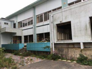 ▲原発近くの浪江町の請戸小学校。 現在は廃校になっている。